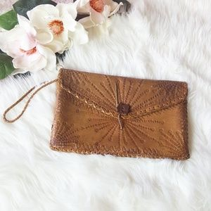 Vintage Tool Leather Clutch/Purse